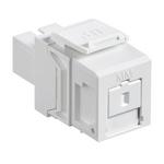 Leviton 41085-MWC | QuickPort Multimode Simplex SC Fiber Optic Adapter Module, Phosphor Bronze Sleeve, White
