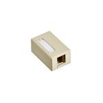 Leviton 41089-1IP | Surface-Mount QuickPort Box, Plenum Rated, 1-Port, Ivory