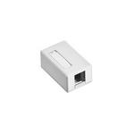 Leviton 41089-1WP | Surface-Mount QuickPort Box, Plenum Rated, 1-Port, White