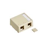 Leviton 41089-2IP | Surface-Mount QuickPort Box, Plenum-Rated,2-Port, Ivory