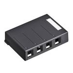 Leviton 41089-2WP | Surface-Mount QuickPort Box, Plenum Rated, 2-Port, White