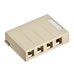 Leviton 41089-4IP | Surface-Mount QuickPort Box, 4-Port, Ivory