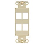 Leviton 41644-I | QuickPort Decora Insert, 4-Port, Ivory