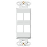 Leviton 41644-W | QuickPort Decora Insert, 4-Port, White
