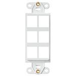 Leviton 41646-W | QuickPort Decora Insert, 6-Port, White