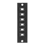 Leviton 5F100-6IC   SDX Precision Molded Plate (BEIGE), 62.5/125um Multimode OM1, Duplex SC, 6 fibers, Zirconia Ceramic Sleeve