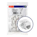 Leviton 61110-BW6   eXtreme Cat 6 QuickPort Jack QuickPack, 25-pack, White