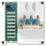 Leviton 47603-TSV | Compact Series: Telephone Security and 6-Way Video Panel