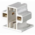 Leviton 26719-200 | G23, G23-2 Base, 5W 7W 9W 2-Pin, Compact Fluorescent Lampholder, Horizontal, Screw-Down