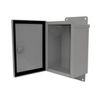 Mier Products BW-120 | Outdoor NEMA 3R, 4 Electrical Enclosures and Heated Enclosures - Gray with Hinge | UPC - 612212022321