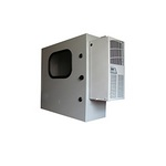 Mier Products BW-1248ACEW | Air-Conditioned & Heated (ACHT) Models - ASA 70 Gray with the addition of a 12 inch x 8 inch Window in the door| UPC - 612212074221