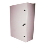Mier Products BW-136BP | NEMA Type 4 Outdoor 24 inch (W) x 36 inch (H) x 12 inch (D) Metal Electrical Enclosure - Gray with Interior Removable 22 inch (W) x 34 inch (H) Back-Panel | UPC - 612212071534