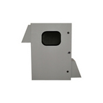 Mier Products BW-136FCW | Fan-Cooled (FC) Model - ASA 70 Gray, with the addition of a 12 inch x 8 inch Window in the door | UPC - 612212071596