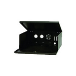 Mier Products BW-200-12V | NEMA Type 1 Indoor 20 inch (W) x 8 inch (H) x 20 inch (D) DVR LockBox  with 12V Fan - Black | UPC - 612212024028