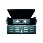 Mier Products BW-235 | Rack Mount Shelf Units, LockBox , Front-door louvers allow air flow | UPC - 612212026350