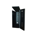 Mier Products BW-244 | Indoor, NEMA 1, Fan-Ventilated DVR, NVR & CPU LockBox  - Black, Front-door louvers allow air flow | UPC - 612212026442