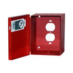 Mier Products BW-250RUL | UL Listed NEMA Type 1 Indoor 4.625 inch (W) x 5.75 inch (H) x 2.5 inch (D) Transformer Cover - Red | UPC - 612212028798