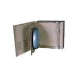 Mier Products BW-307C | NEMA Type 1 Outdoor 13.5 inch (W) x 13.5 inch (H) x 4 inch (D) Metal Bell Enclosure - Camel | UPC - 612212026237