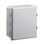 Mier Products BW-SL14126 | UL Listed NEMA Rated Outdoor 14 inch (H) x 12 inch (W) x 6 inch (D) Polycarbonate Electrical Enclosure - Gray - Solid Door | UPC - 612212080291