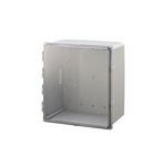 Mier Products BW-SL181610C | UL Listed NEMA Rated Outdoor 18 inch (H) x 16 inch (W) x 10 inch (D) Polycarbonate Electrical Enclosure - Gray - Clear Door | UPC - 612212080390
