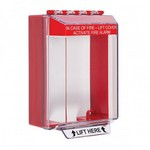 Safety Technology Intl (S.T.I.) STI-14210FR   Universal Stopper Low Profile Cover Surface Mount and Hood - Fire Label - Red