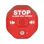 Safety Technology Intl (S.T.I.) STI-6400 | Exit Stopper Multifunction Door Alarm - Red