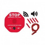 Safety Technology Intl (S.T.I.) STI-6402WIR | Wireless Exit Stopper Multifunction Door Alarm for Double Door - Red
