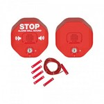 Safety Technology Intl (S.T.I.) STI-6404 | Exit Stopper for Double Door with Remote Horn - Red