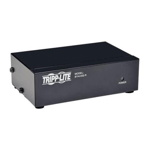 Tripp-Lite B114-002-R | 2-Port VGA/SVGA Video Splitter with Signal Booster, High Resolution Video, 350MHz, (HD15 M/2xF)