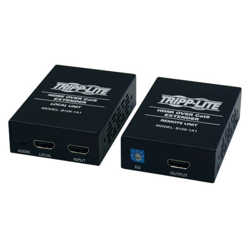 Tripp-Lite B126-1A1 | HDMI over Cat5/6 Extender Kit, Box-Style Transmitter/Receiver for Video/Audio, Up to 150 ft. (45 m), TAA