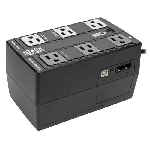 Tripp-Lite ECO350UPS   350VA 210W Standby UPS - 6 NEMA 5-15R Outlets, 120V, 50/60 Hz, 5-15P Plug, ENERGY STAR, Desktop/Wall