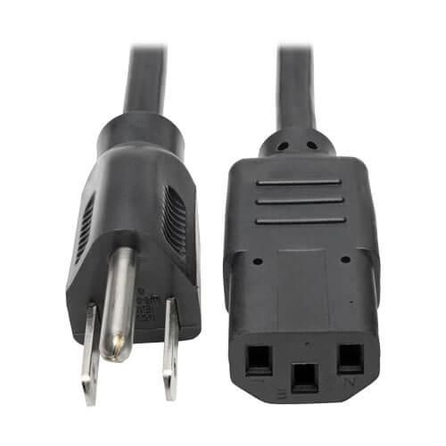 Tripp-Lite P006-006 | Desktop Computer AC Power Cable, NEMA 5-15P to C13 - 10A, 125V, 18 AWG, 6 ft. (1.83 m), Black