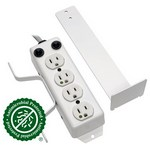 Tripp-Lite PS410HGOEMX   For Patient-Care Vicinity - UL 1363A Medical-Grade Power Strip, 4 Hospital-Grade Outlets, 10 ft. (3.05 m) Cord, Drip Shield
