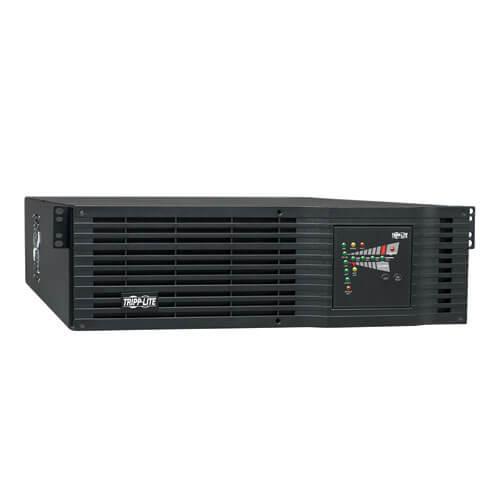 Tripp-Lite SU3000RTXR3U   SmartOnline 120V 3kVA 2.4kW Double-Conversion UPS, 3U, Extended Run, Oversize Batteries, Network Card Slot, USB, DB9