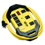 Tripp-Lite TLM812SA   Protect It! 8-Outlet Industrial Safety Surge Protector, 12 ft. Cord, 1500 Joules, Cord Wrap, Hang Holes