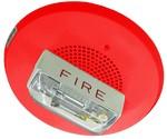 Wheelock E90-24MCC-FR | Red Ceiling Mounted E90 Speaker Strobe 15/30/75/95