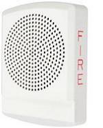 Wheelock LSPKW-AL | LED High Fidelity Speaker, White Alert Lettering