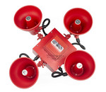 Wheelock STH-4R24MCCH-FR | Red Cluster Speakers FIRE lettering