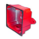 Wheelock WBB-R | Red Waterproof Back Box for Mounting Horn Strobes