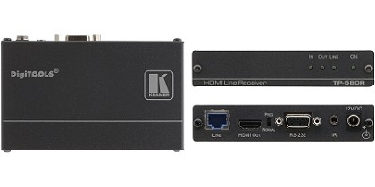 Kramer TP-580R 4K60 4:2:0 HDMI HDCP 2.2 Receiver with RS–232 & IR over Long–Reach HDBaseT