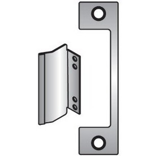 Hes A630 Satin Stainless Steel 1006 Faceplate for HES 1006 Series Electric Strikes for Mortise Locksets with 1 Inch Deadbolt Without Deadlatch A Plate