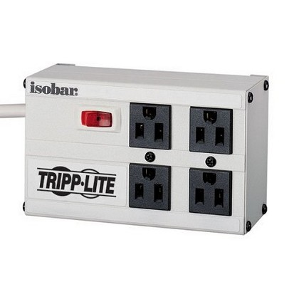 Tripp-Lite ISOBAR4 Isobar Surge Protector Metal 4 Outlet 6 feet Cord 3330 Joules