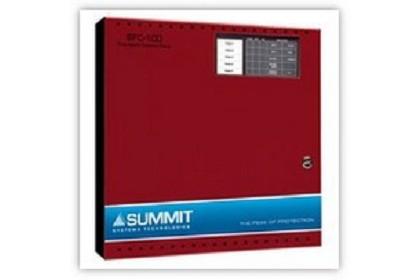 Mircom SFC-105R Five Zone Fire Alarm Control Panel, Red