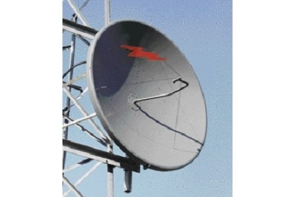 Commscope PL10-65-P7B 3.0 m | 10 ft Standard Parabolic, Low VSWR Unshielded Antenna, single-polarized, 6.425-7.125 GHz, CPR137G, gray antenna, with flash, non-standard pack - one-piece reflector