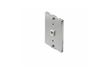 Steren Electronics - Usa 300095 4C Steel Wall Phone Jack