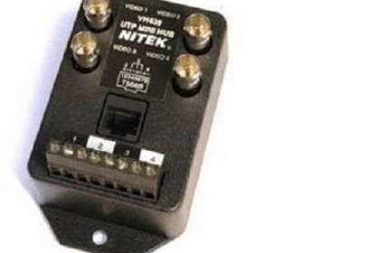 Nitek VH439 Video Balun UTP Hub - 4 Port Transceiver
